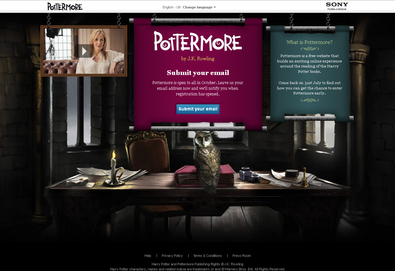 Pottermore – first reactions | The Squeee