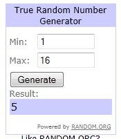 Harry Potter giveaway winner